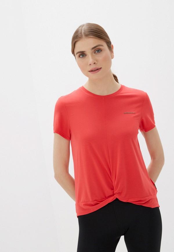 женская спортивные футболка merrell, красная