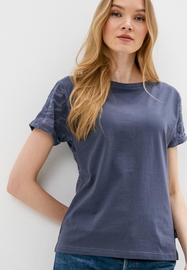женская спортивные футболка merrell, синяя