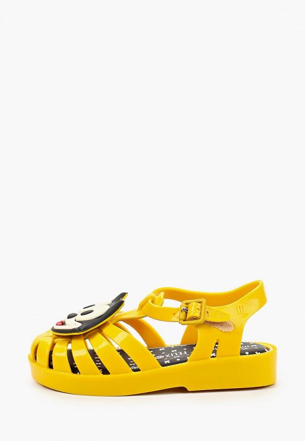 сандалии melissa для девочки, желтые