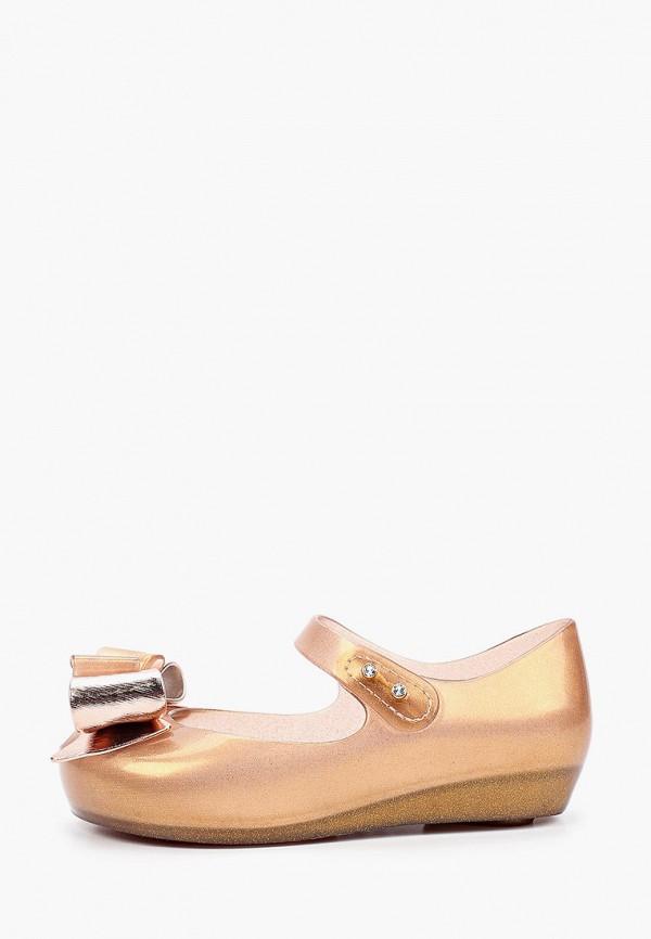 туфли melissa для девочки, золотые
