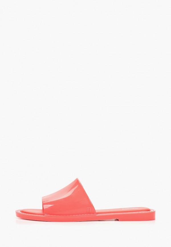 женские сланцы melissa, розовые