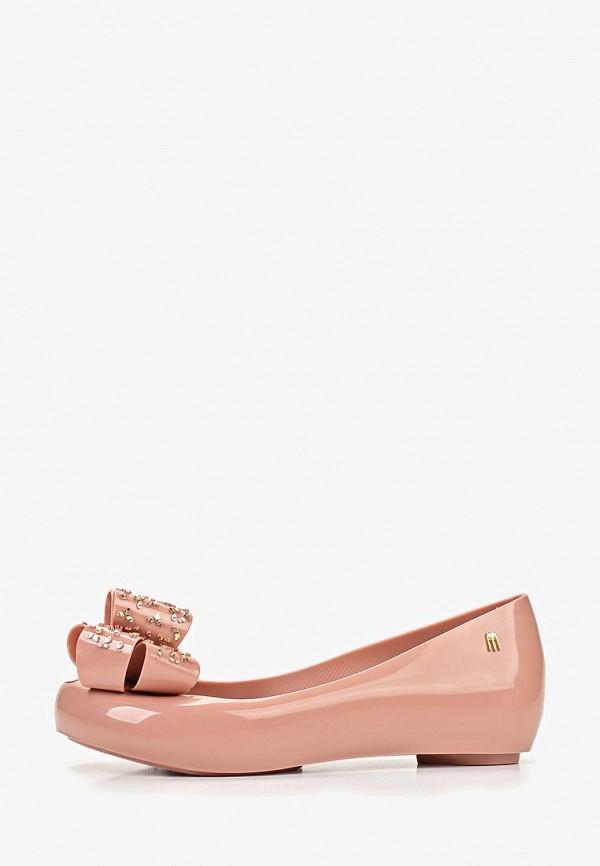 женские балетки melissa, розовые
