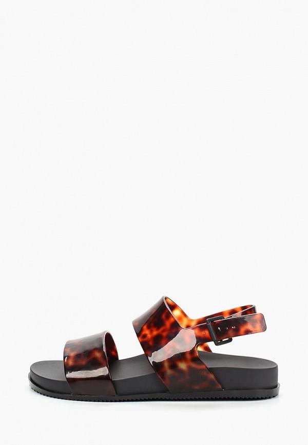 женские сандалии melissa, коричневые