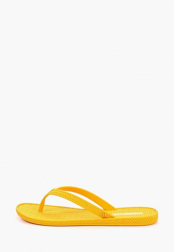 женские сланцы melissa, желтые