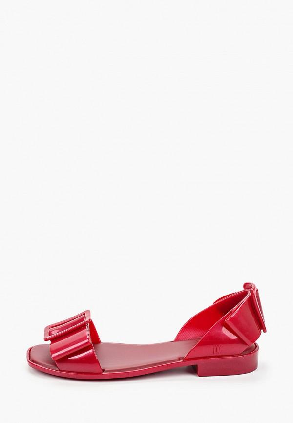 женские сандалии melissa, бордовые