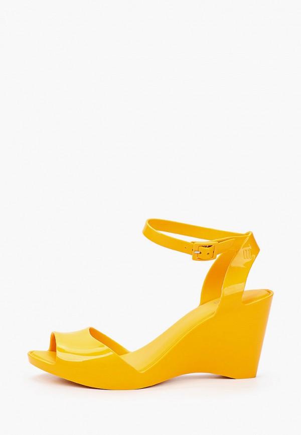 женские босоножки melissa, желтые