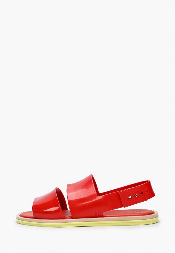женские сандалии melissa, красные