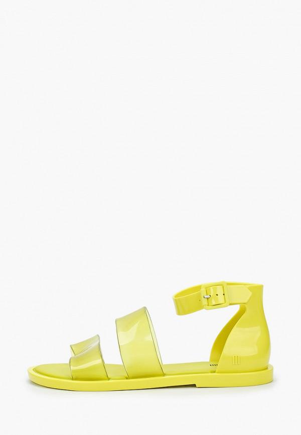 женские сандалии melissa, желтые