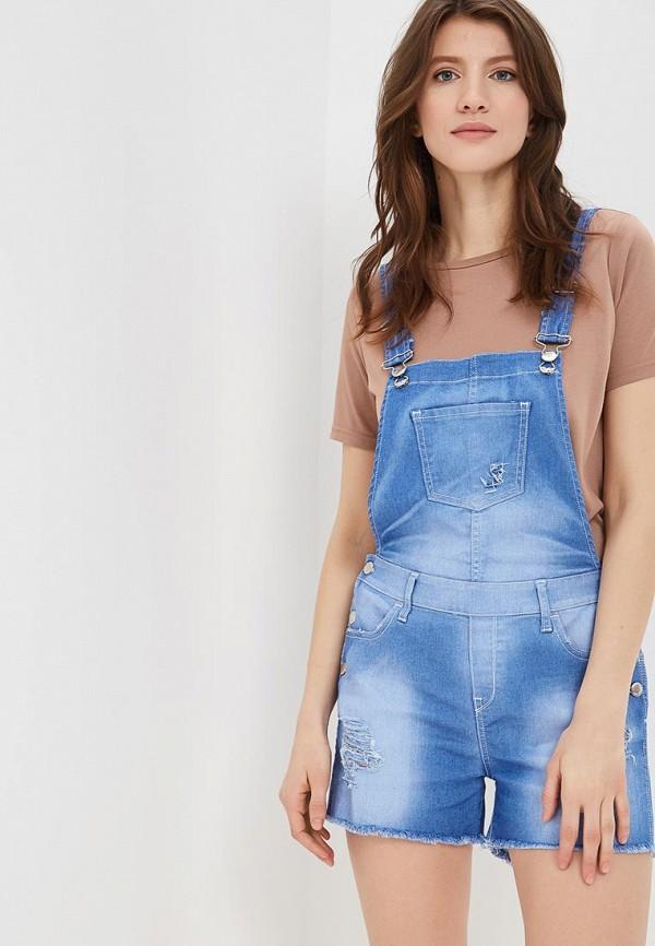 женский джинсовые комбинезон met, голубой