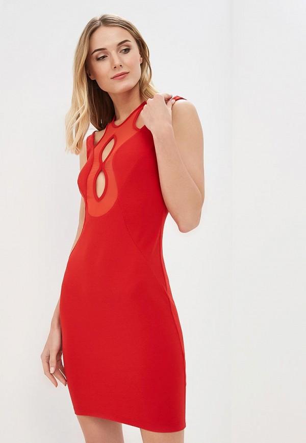 женское вечерние платье met, красное