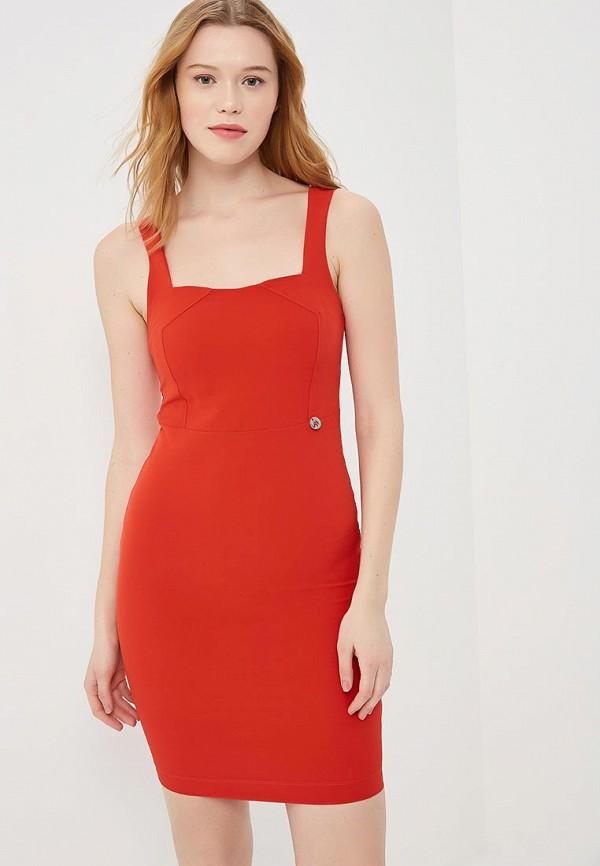 женское платье-футляр met, красное