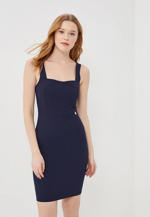 женское платье-футляр met, синее