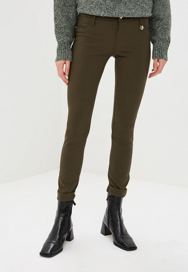 женские повседневные брюки met, хаки