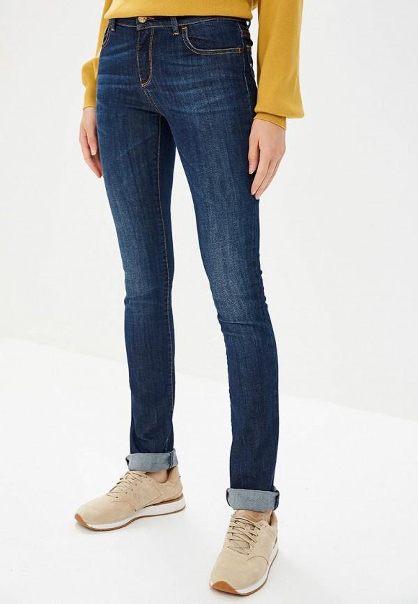 женские прямые джинсы met, синие