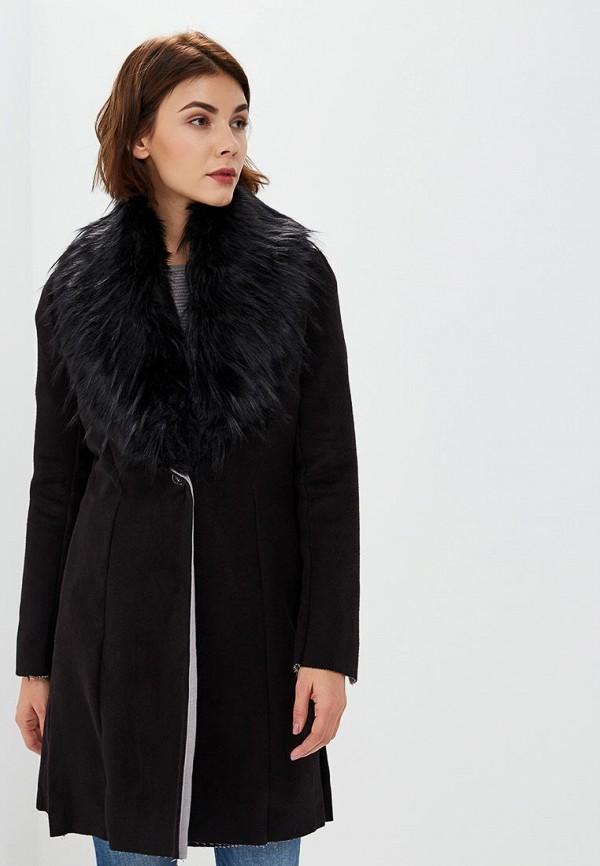 женское пальто met, черное