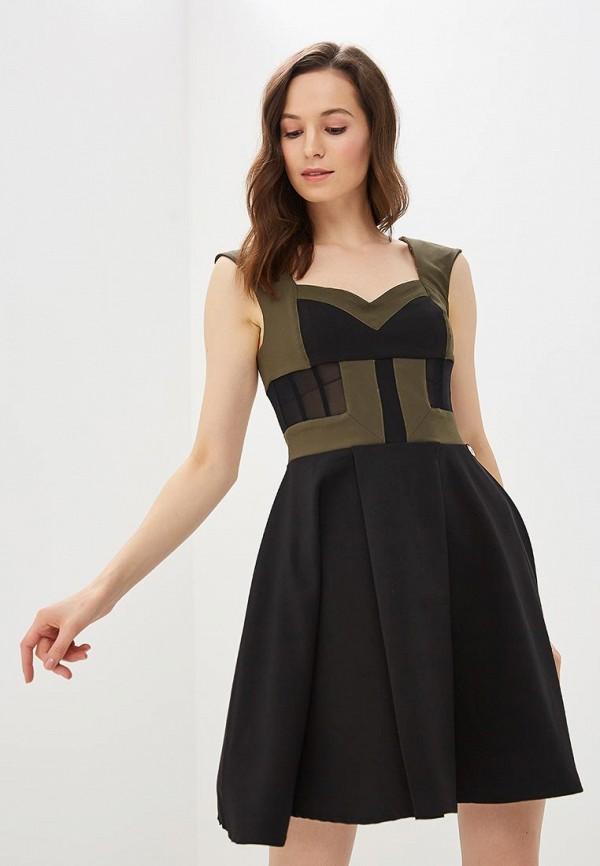 женское вечерние платье met, хаки