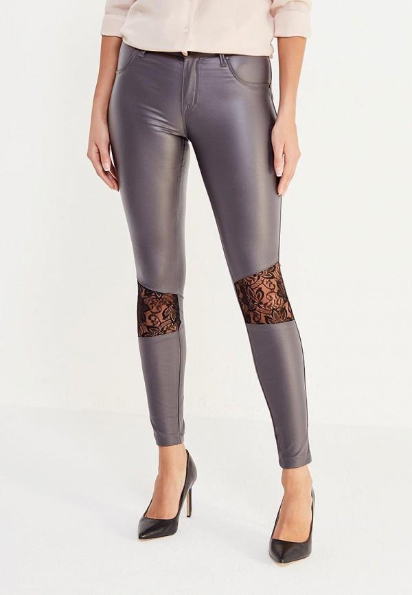 женские зауженные брюки met, серые