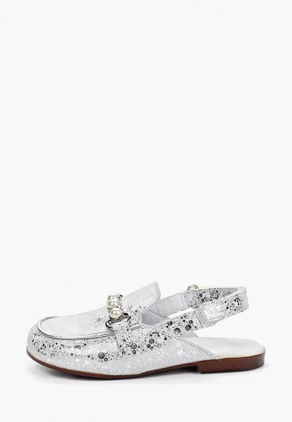туфли melania для девочки, серебряные