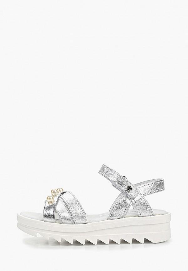сандалии melania для девочки, серебряные