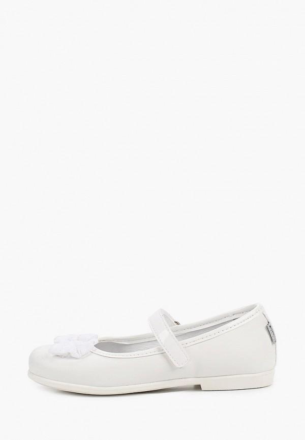 туфли melania для девочки, белые