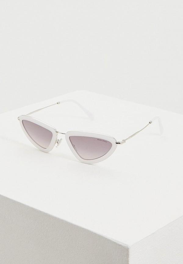 женские солнцезащитные очки miu miu, белые