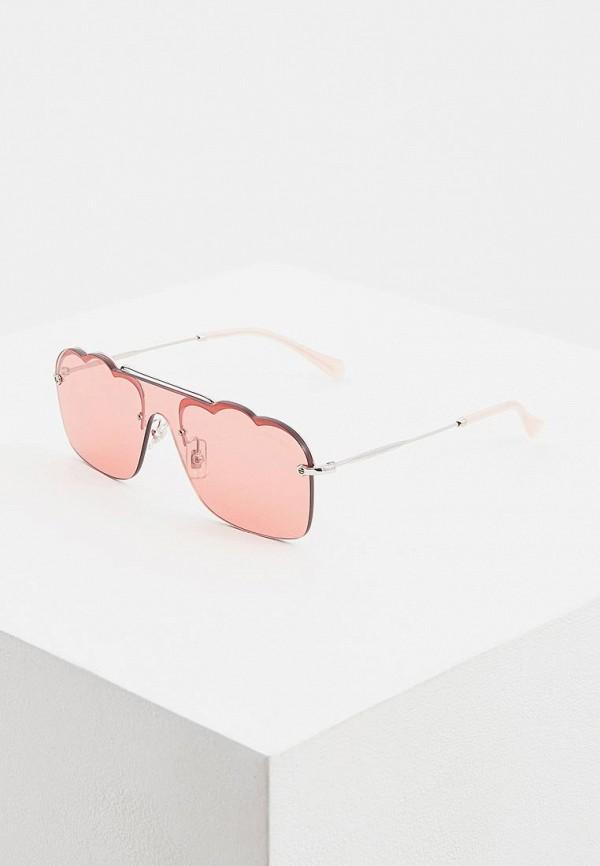 цена Очки солнцезащитные Miu Miu Miu Miu MI007DWEMYZ9 онлайн в 2017 году