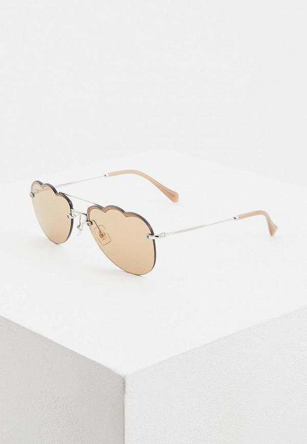 цена Очки солнцезащитные Miu Miu Miu Miu MI007DWEMZA1 онлайн в 2017 году