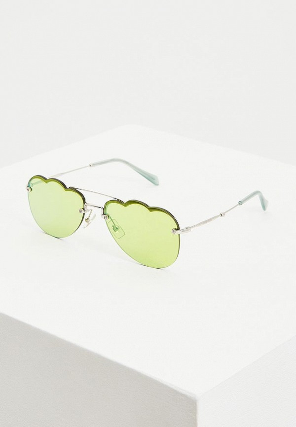 женские солнцезащитные очки miu miu, зеленые