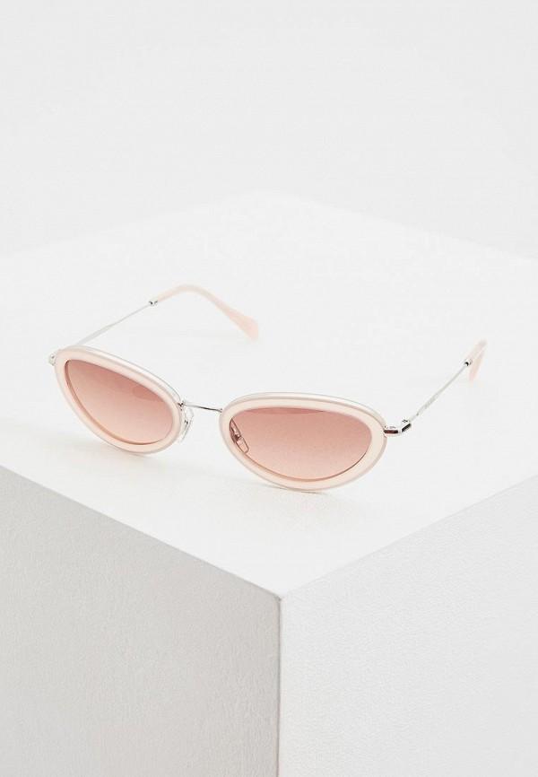 женские солнцезащитные очки miu miu, розовые