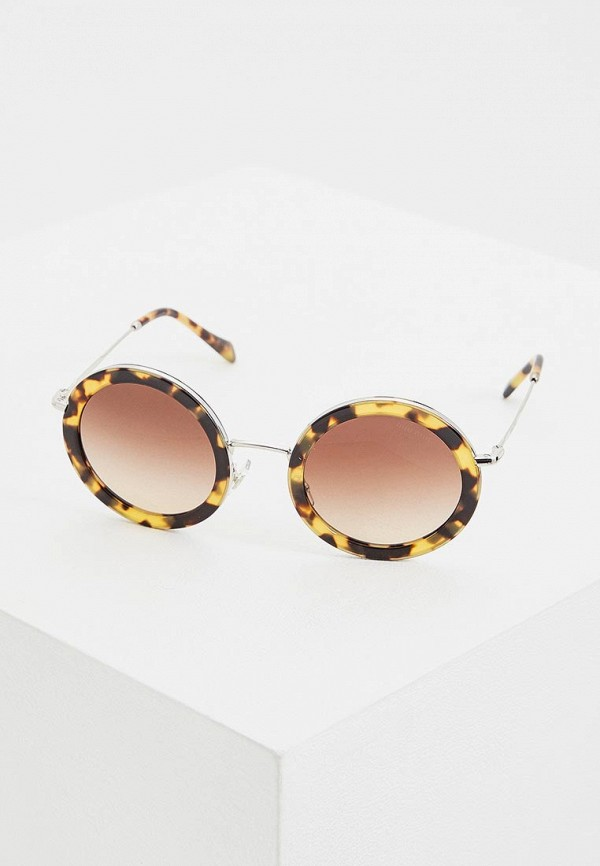 женские солнцезащитные очки miu miu, коричневые