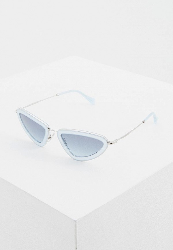 женские солнцезащитные очки miu miu, голубые