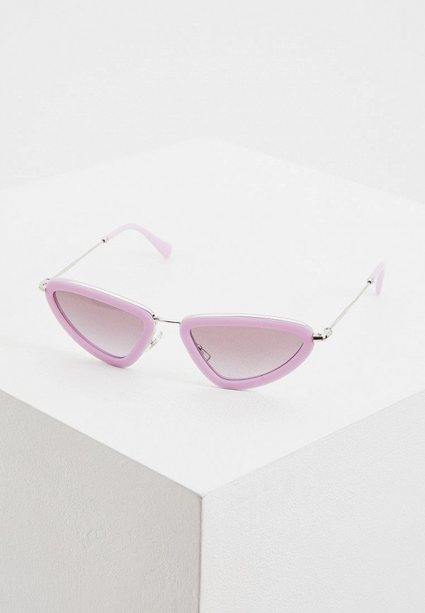 женские солнцезащитные очки miu miu, фиолетовые