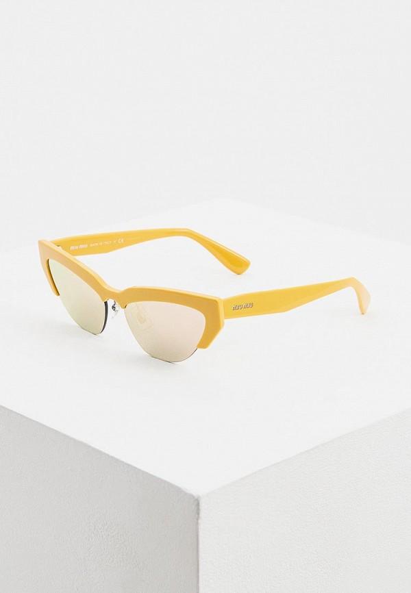 женские солнцезащитные очки miu miu, желтые