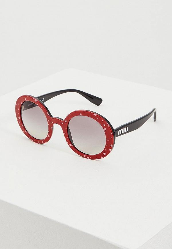 женские солнцезащитные очки miu miu, красные