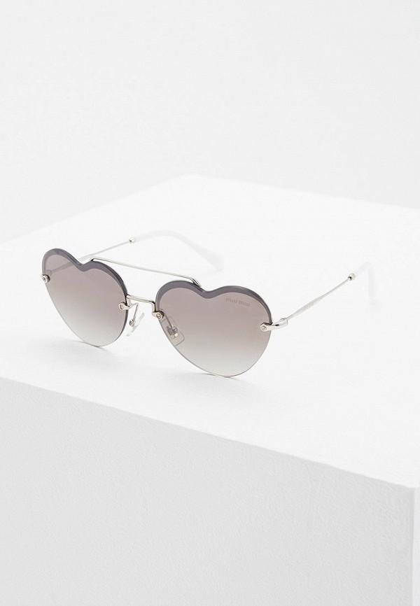 Очки солнцезащитные Miu Miu Miu Miu MI007DWFTTG4 очки солнцезащитные miu miu miu miu mi007dwatbb0