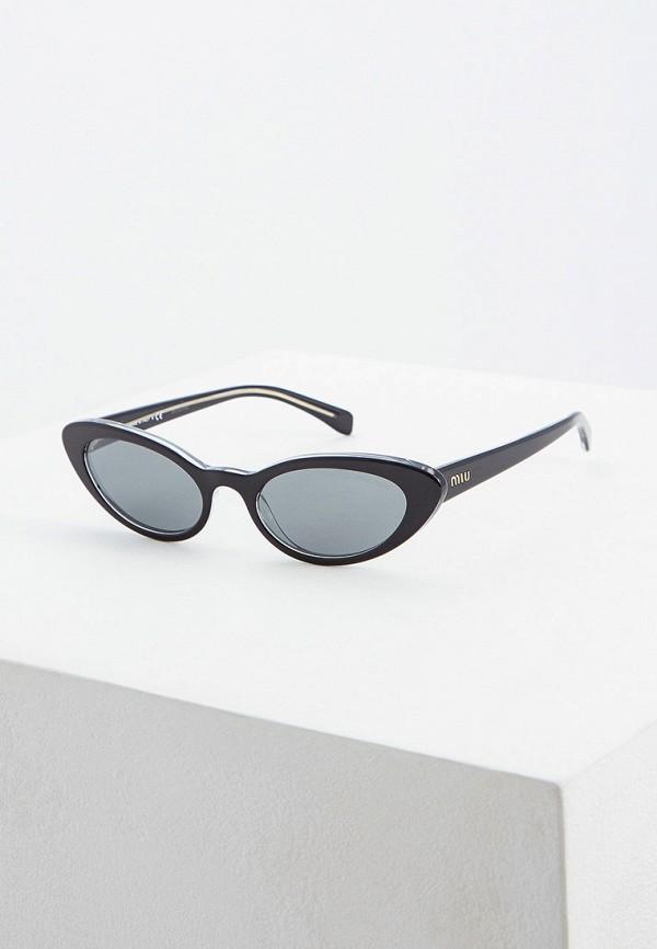 женские солнцезащитные очки miu miu, черные