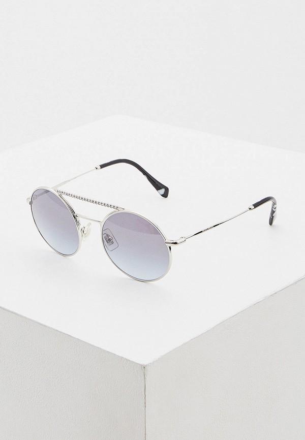 женские солнцезащитные очки miu miu, серебряные