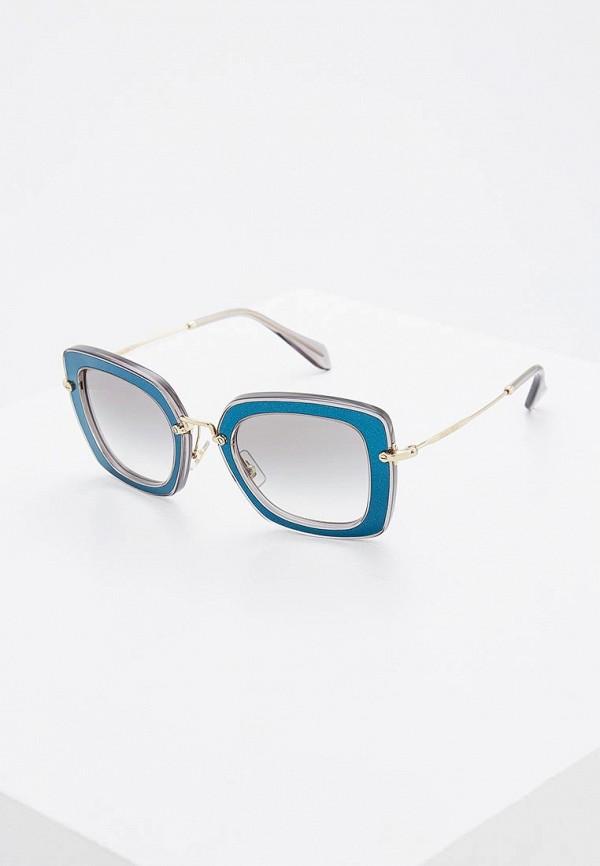 мужские солнцезащитные очки miu miu, синие