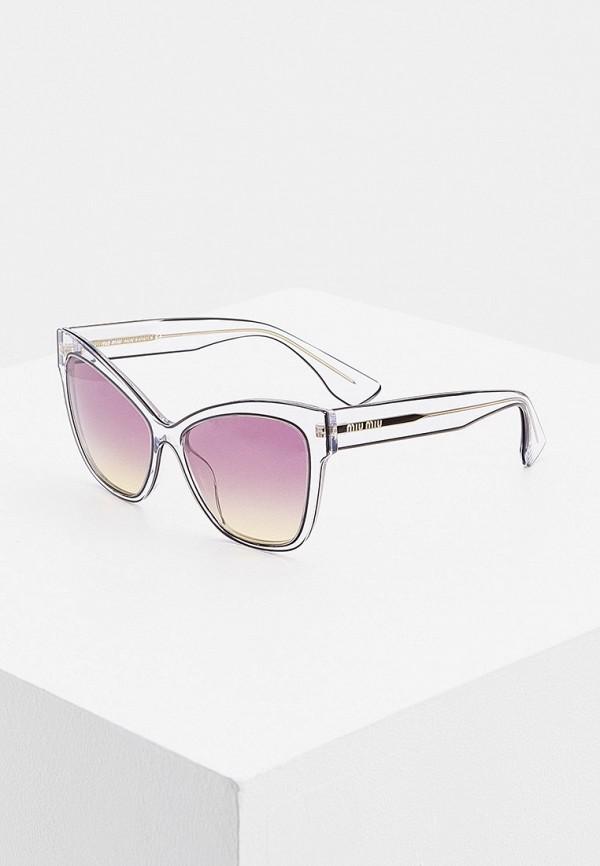 женские солнцезащитные очки miu miu, серые
