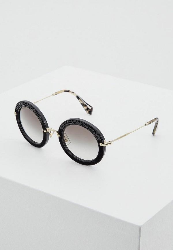 Очки солнцезащитные Miu Miu Miu Miu MI007DWOZD39 miu miu черный шерстяной кардиган