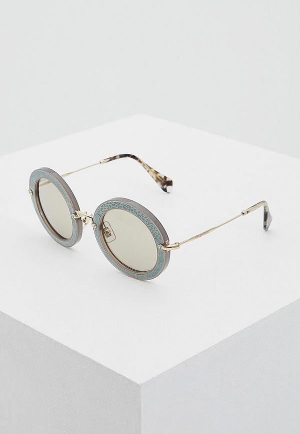 цена Очки солнцезащитные Miu Miu Miu Miu MI007DWOZD49 онлайн в 2017 году
