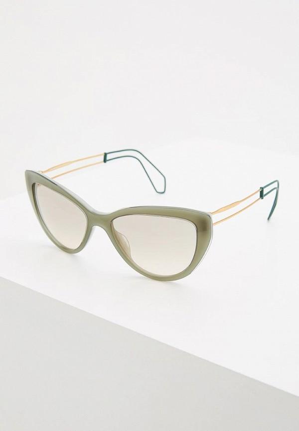 Купить Очки солнцезащитные Miu Miu зеленого цвета