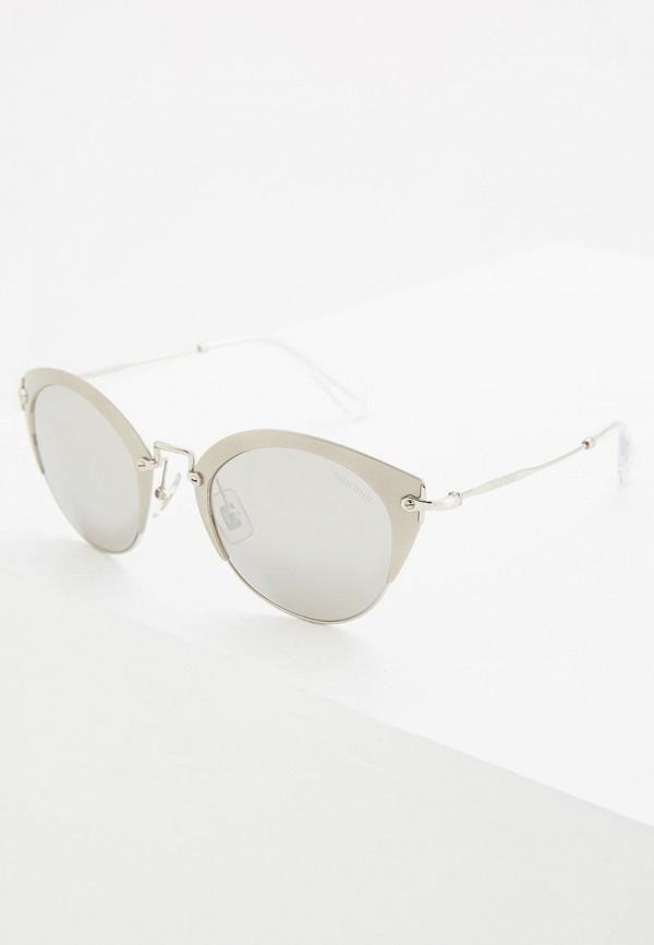 мужские солнцезащитные очки miu miu, серебряные