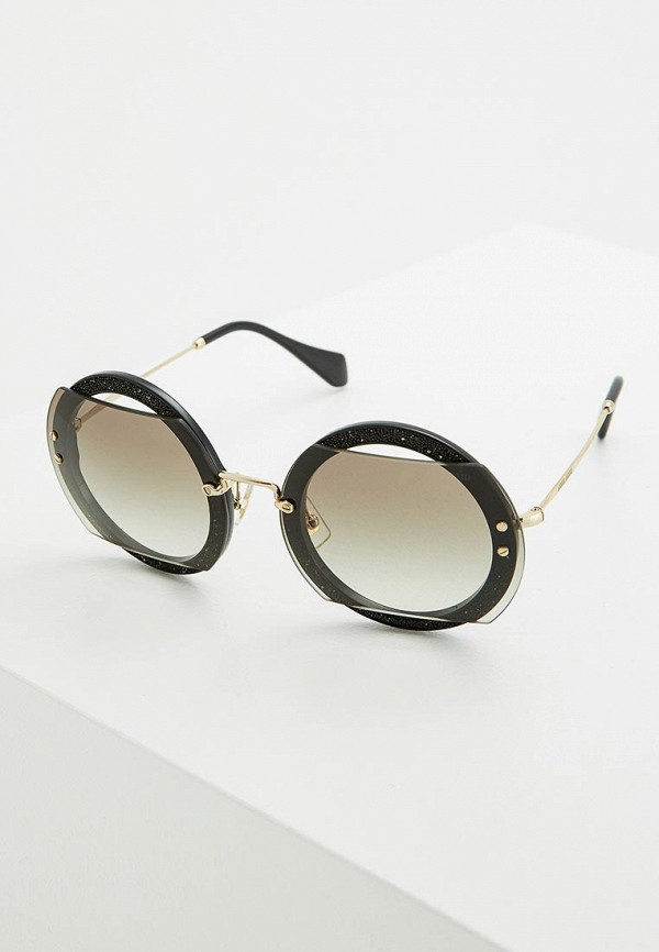 Очки солнцезащитные Miu Miu Miu Miu MI007DWZAW62 miu miu черный шерстяной кардиган