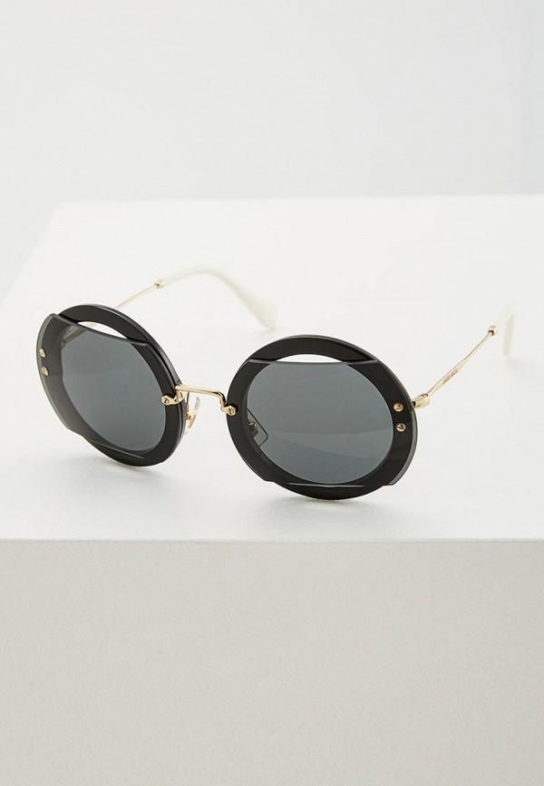 Очки солнцезащитные Miu Miu Miu Miu MI007DWZAW63 miu miu черный шерстяной кардиган