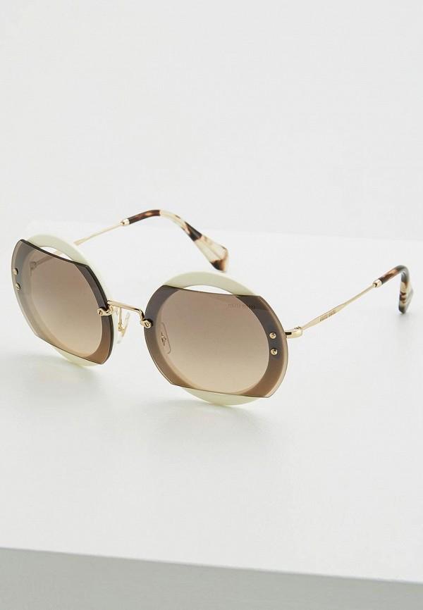 женские солнцезащитные очки miu miu, золотые