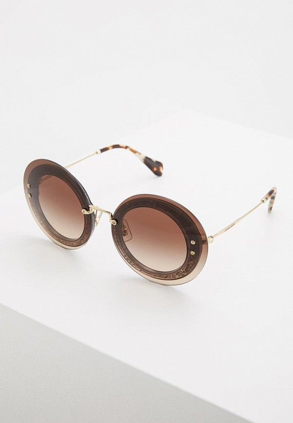 Очки солнцезащитные Miu Miu Miu Miu MI007DWZAW65 цены онлайн