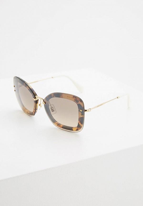 Очки солнцезащитные Miu Miu Miu Miu MI007DWZAW78 очки солнцезащитные miu miu miu miu mi007dwfttg7