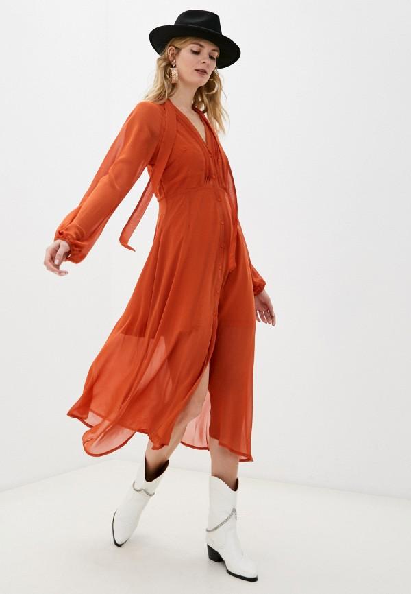 женское повседневные платье missguided, оранжевое