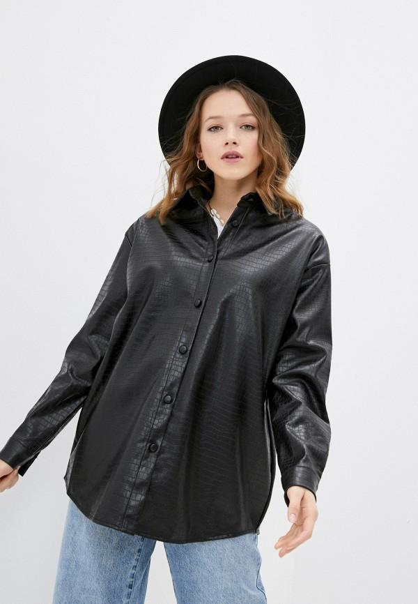 женская рубашка с длинным рукавом missguided, черная